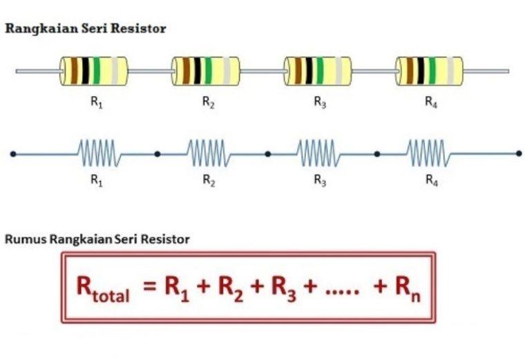 Contoh Rangkaian Resistor Seri