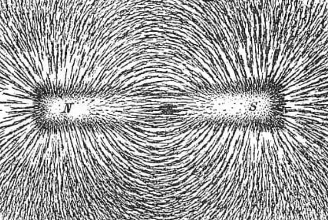 Gambar pola garis-garis gaya
