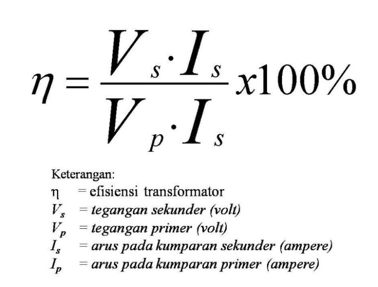 Rumus Efisiensi Transformator