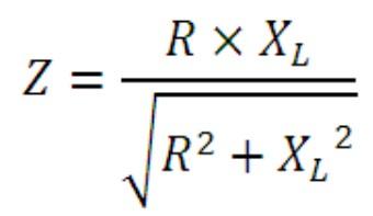rumus nilai impedansi rangkaian paralel induktor