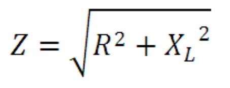 rumus nilai impedansi rangkaian seri induktor