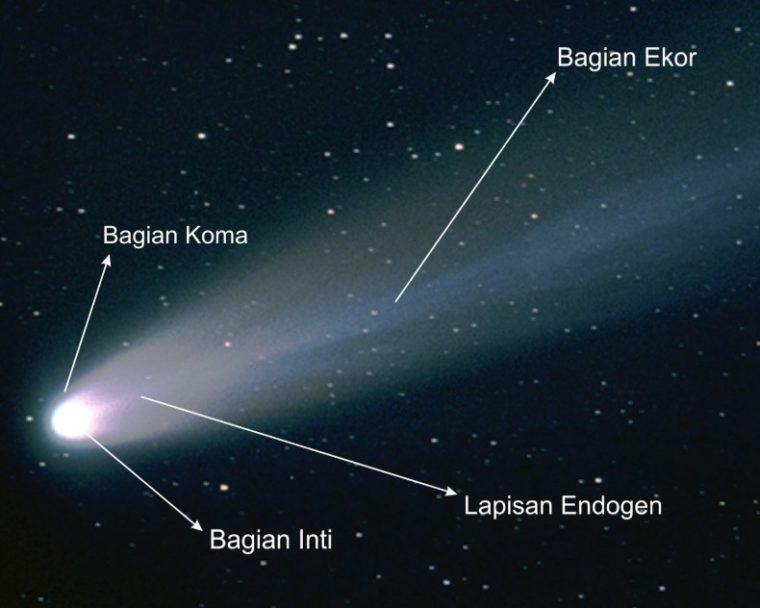 Bagian - Bagian dari Komet