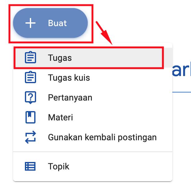 Klik buat klik tugas