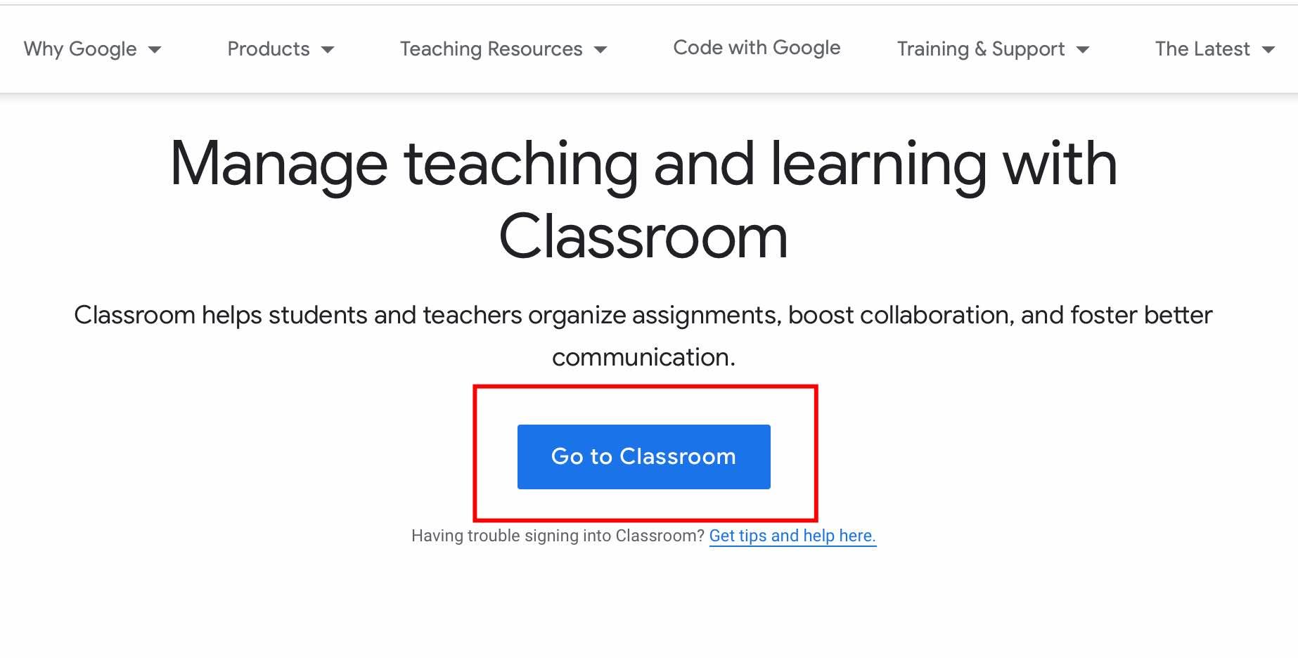 klik go to classroom