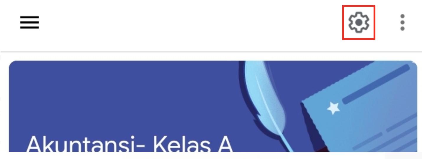 klik menu setting