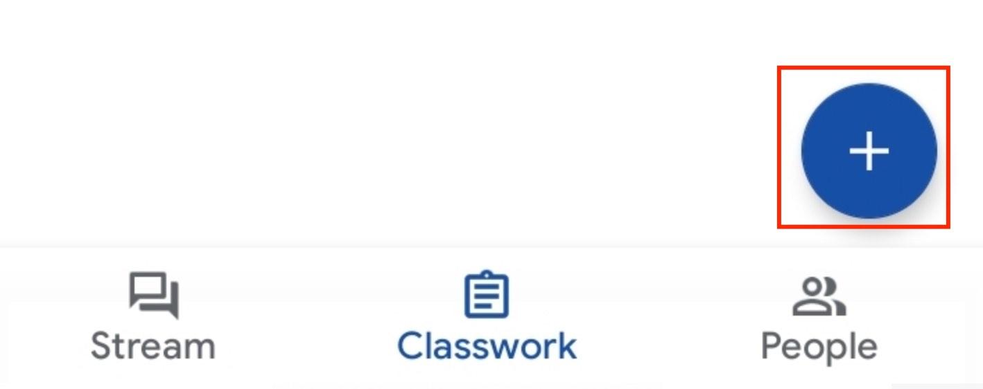 klik tanda + pada classwork