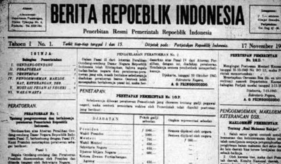 pers Awal Kemerdekaan