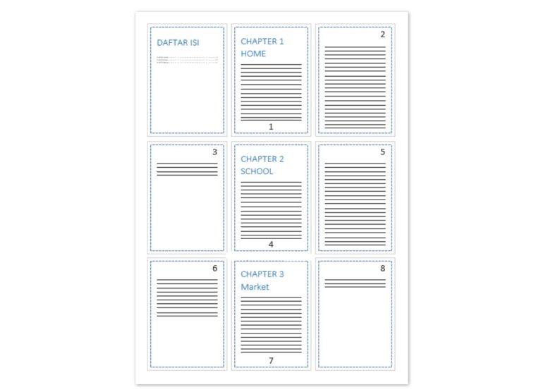 Cara ke-1 Mengatur Format Nomor Halaman Berbeda pada Satu Dokumen