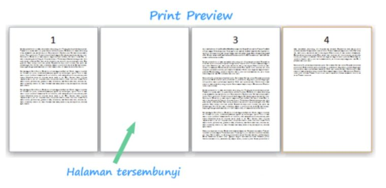 Cara ke-2 Menghapus Halaman pada Word Di Tengah dan Akhir Dokumen
