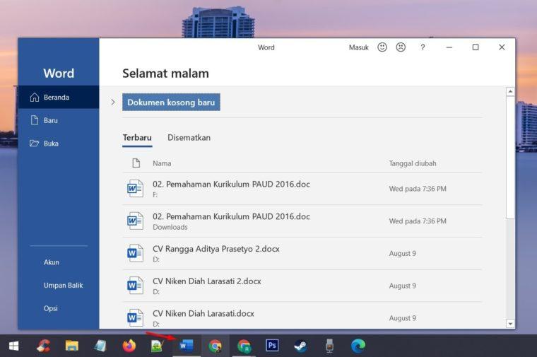 Melalui Ikon Desktop