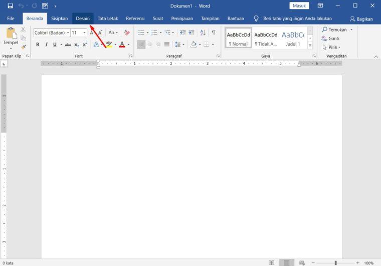 Cara ke-1 Membuat Background Watermark di Word