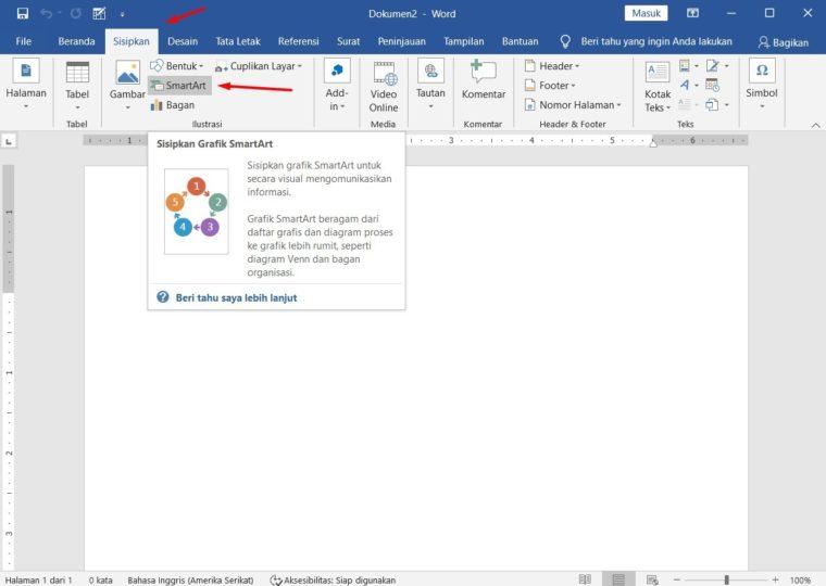 Cara ke-1 Membuat Bagan dengan SmartArt