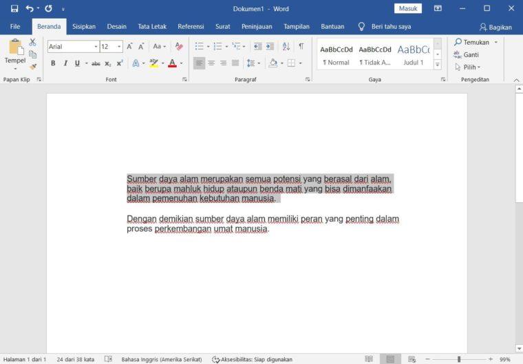 Cara ke-1 Membuat Coret Teks