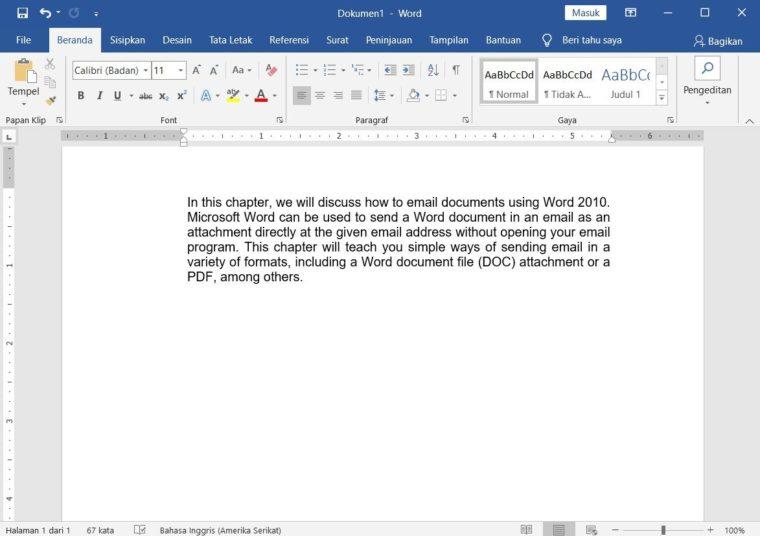 Cara ke-1 Translate Dokumen di Microsoft Word