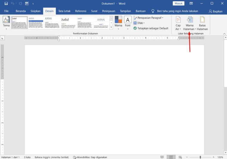 Cara ke-2 Membuat Background Warna di Word