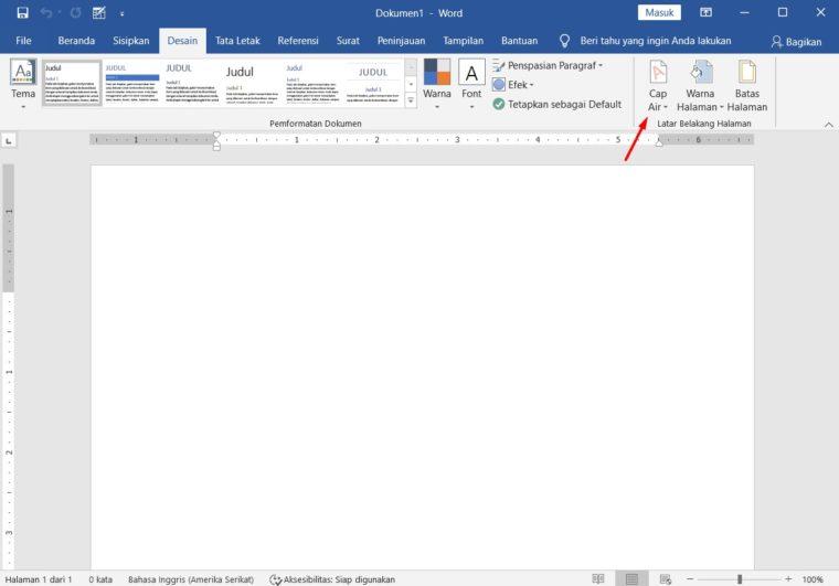 Cara ke-2 Membuat Background Watermark di Word
