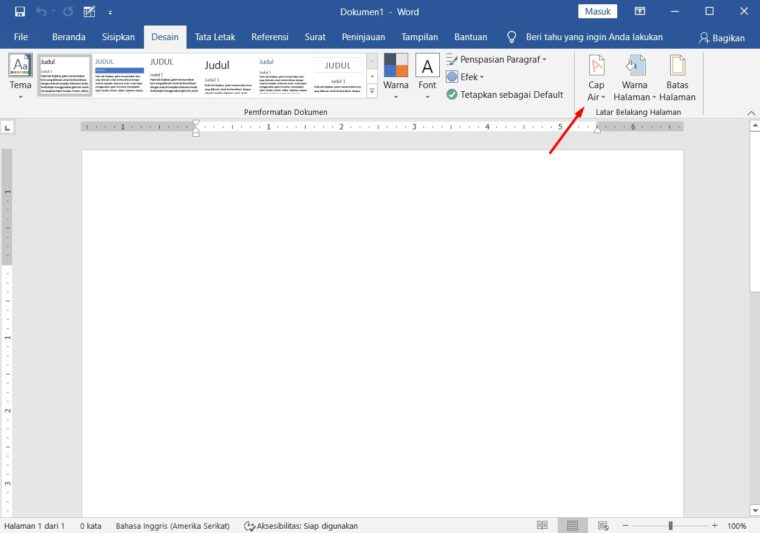 Cara ke-2 Membuat Watermark Text di Word
