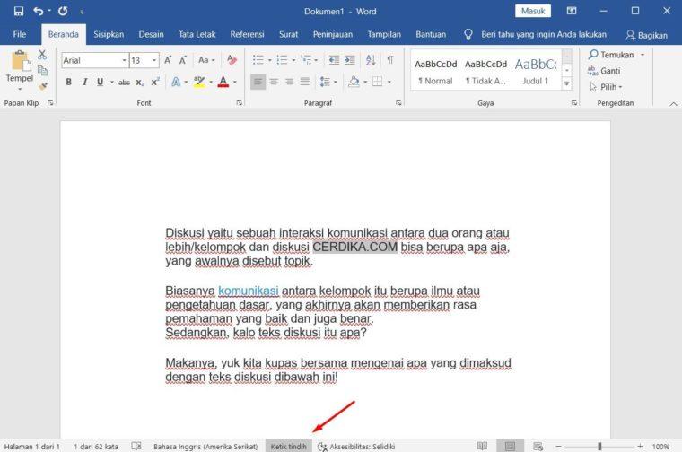 Cara ke-3 Add Text pada Microsoft Word