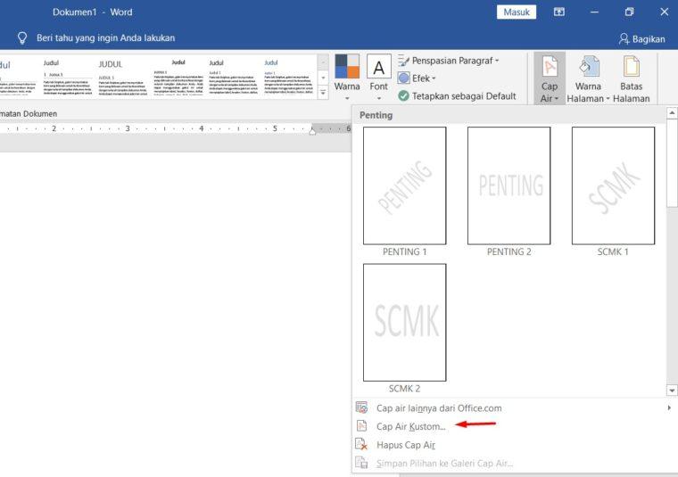 Cara ke-3 Membuat Background Gambar di Word