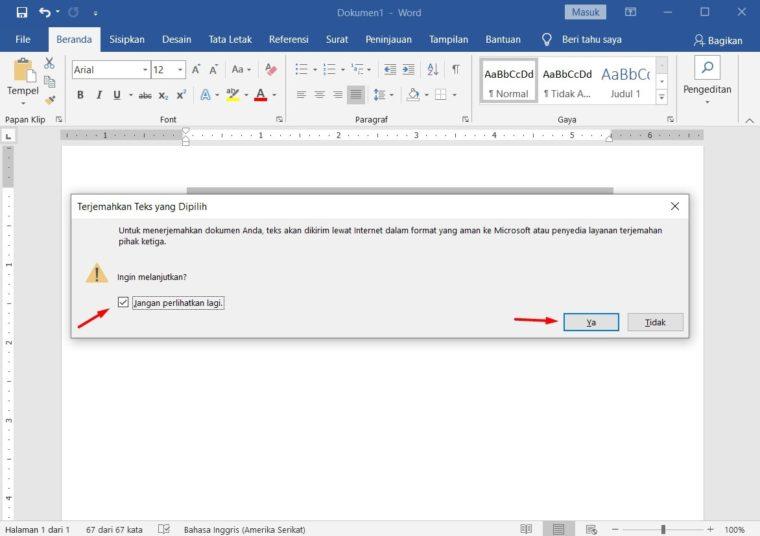 Cara ke-3 Translate Dokumen di Microsoft Word