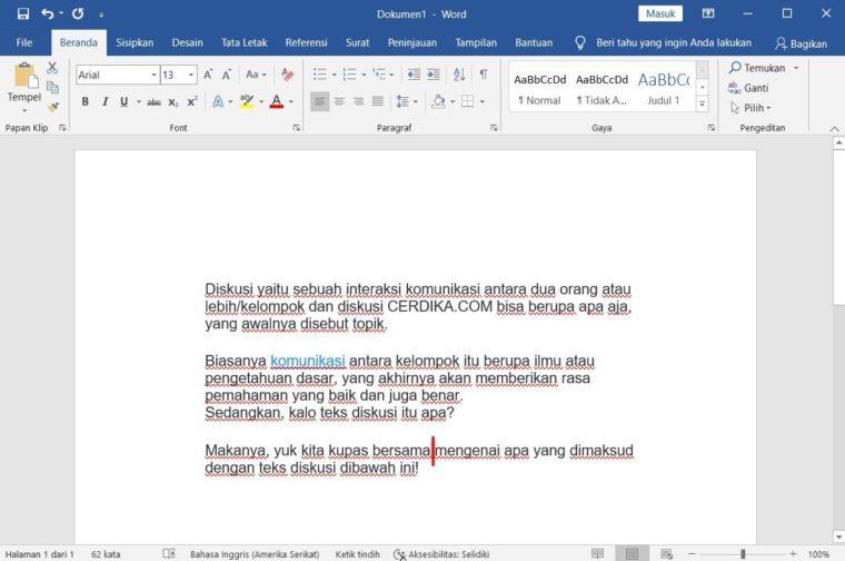 Cara ke-4 Add Text pada Microsoft Word