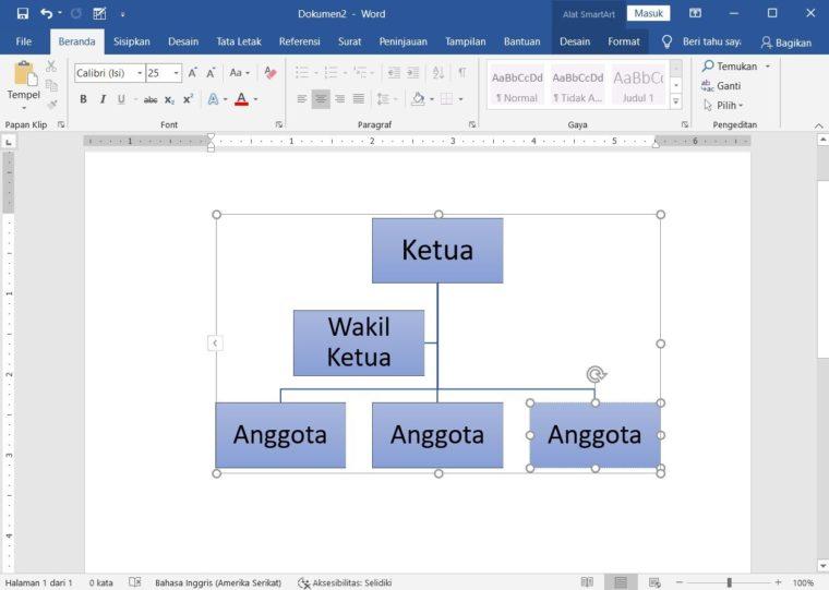 Cara ke-4 Membuat Bagan dengan SmartArt