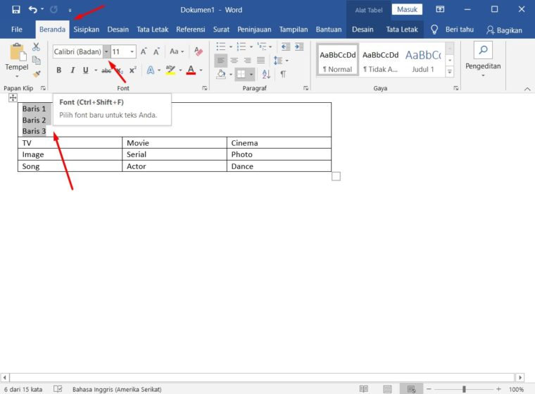 Cara ke-4 Menggambungkan Sel di Word