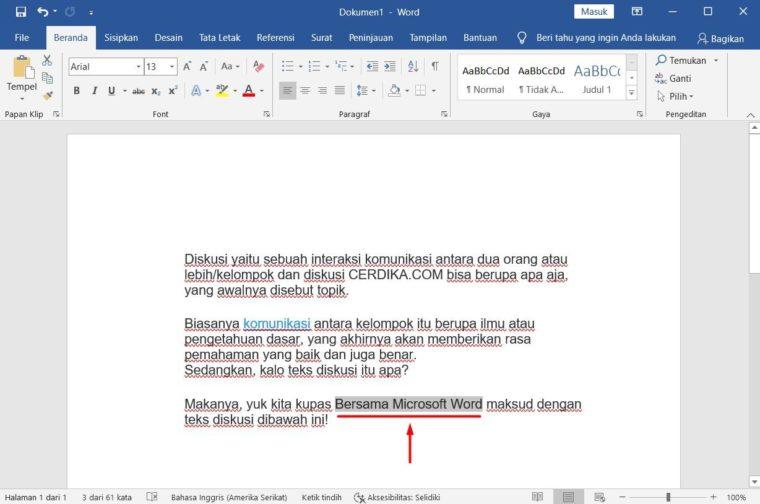 Cara ke-5 Add Text pada Microsoft Word