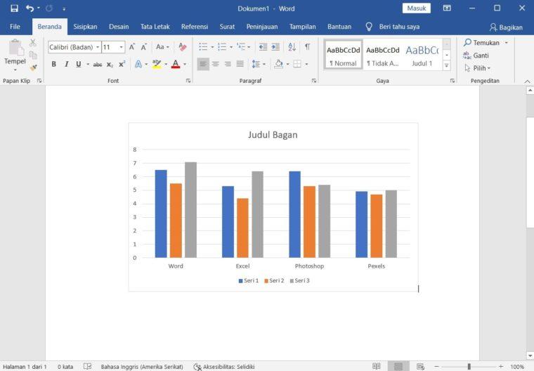 Cara ke-5 Membuat Grafik Baru di Word