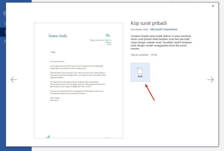 Cara ke-3 Membuat Kop Surat Otomatis