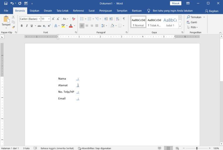 Cara ke-4 Membuat Mail Merge di Word