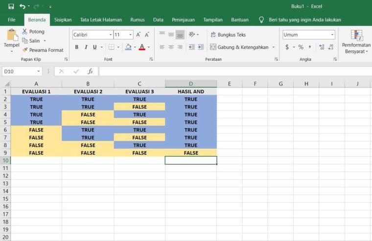 Tabel Fungsi OR dengan 3 Kondisi Evaluasi