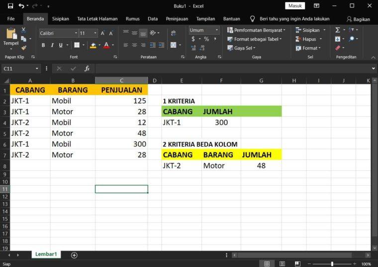 Contoh Penggunaan Rumus DMAX Excel