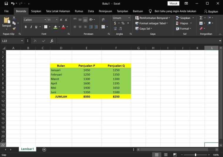 Contoh Penggunaan Rumus LARGE Excel