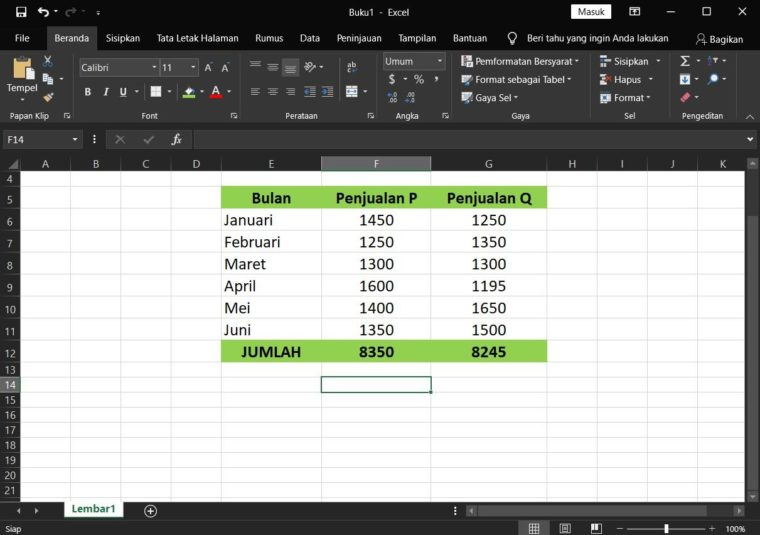 Contoh Penggunaan Rumus Statistika LARGE Excel