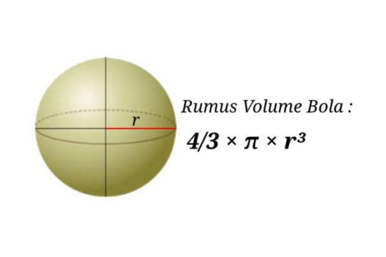 Rumus Volume Bola